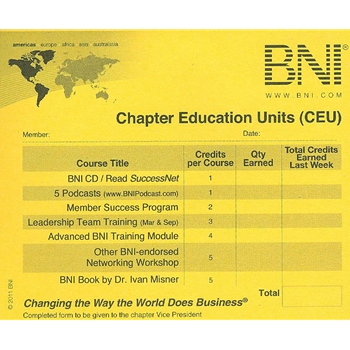 BNI Chapter Education Units; Quantity - 100